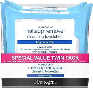 Neutrogena Cleansing Perfume آرایشی و بهداشتی دستمال مرطوب صورت، 25 تعداد، 2 بسته