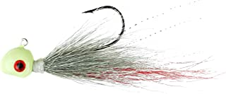 Flexi Jig Buck Tail, Glow White/Green/Red, 1/2-Ounce