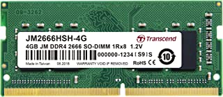 TRANSCEND 4GB DDR4 2666Mhz SO-DIMM Memory Module for Laptop