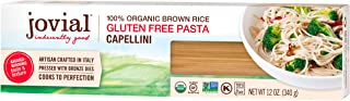 Jovial Capellini Gluten-Free Pasta | Whole Grain Brown Rice Capellini Pasta | Non-GMO | Lower Carb | Kosher | USDA Certifi...