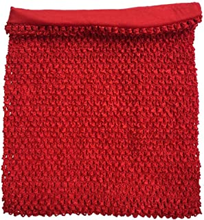 Red Crochet Tutu Top Lined 12 Inches X 10 Inches Elastic Crochet Tube Top