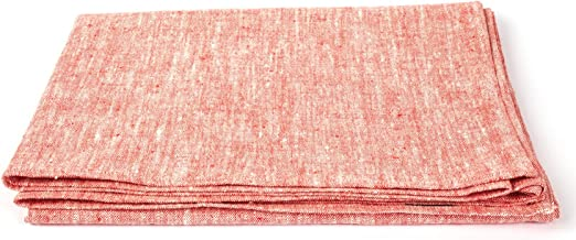 LinenMe Linen Francesca Bath Towel, 39 by 55-Inch, Red