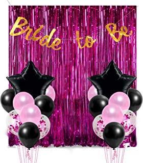 Party Propz 18Pcs Bride to Be Foil Curtain, Banner and Balloon Decoration Combo for Bridal Shower, Bachelorette Decoratio...