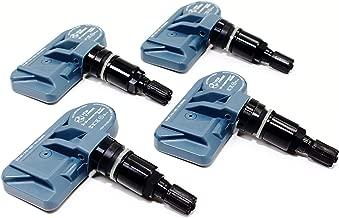 ITM Set of 4 08017DXS 315mhz TPMS Tire Pressure Sensors 2008-2017 Replaces Subaru OE Part # 28103-AJ00A w/Gloss Black or Matte Black Aluminum Valve Stems (Gloss Black)