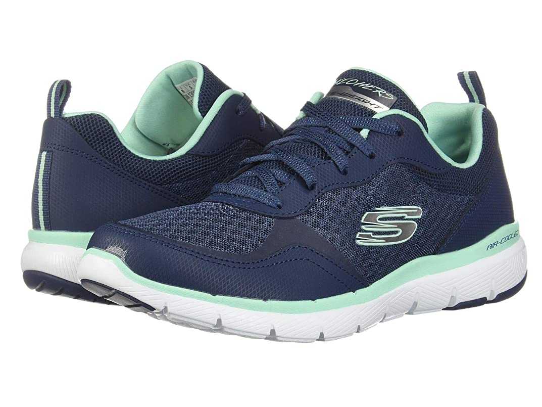 ブランデー対話自我レディーススニーカー?ウォーキングシューズ?靴 Flex Appeal 3.0-Go Forward Navy/Aqua 5 (22cm) B [並行輸入品]