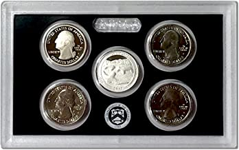 2017 P D S S S America the Beautiful Quarters Effigy Mounds National Monument 5 Coin Proof and Circulating Set UNC
