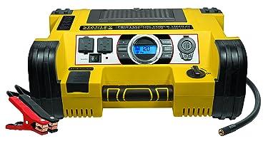 STANLEY FATMAX PPRH7DS Professional Power Station Jump Starter: 1400 Peak/700 Instant Amps, 500W Inverter, 120 PSI Air Compressor, USB Port, Battery Clamps