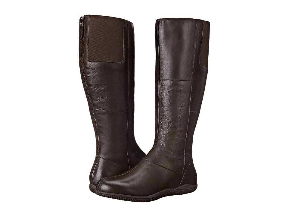 SoftWalk Hollywood Wide Calf (Dark Brown Soft Nappa Leather) Women