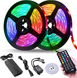 Best LED Strip Lights, Tenmiro 32.8ft Led Music Sync Color Changing Light with 40keys Music Remote Controller, Led Lights for Room, Bedroom, TV, Party Review