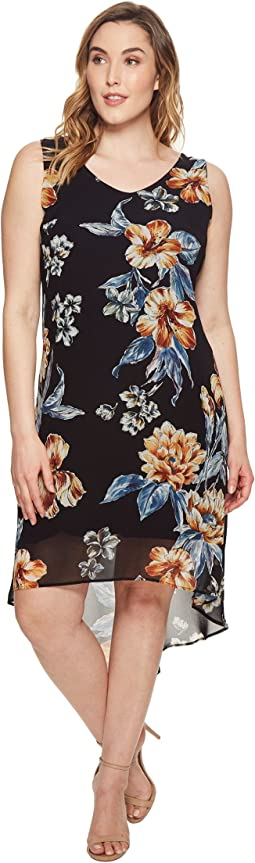 Karen Kane Plus Plus Size High-Low Hem Dress