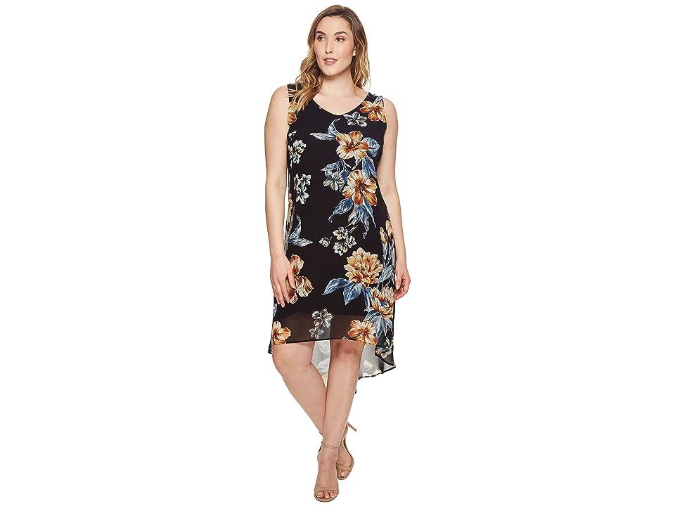 eb0de375190 Karen Kane Plus Plus Size High-Low Hem Dress (Print) Women