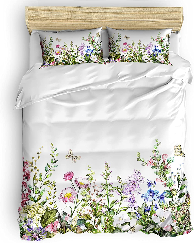 YOKOU Duvet Cover Set Bargain sale King Watercolor Vintage Colorful Size Fl Sales results No. 1