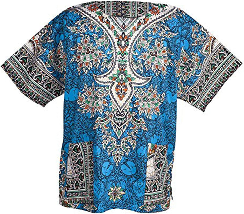 Lofbaz Robe Chemise Unisexe Africaine Traditionnelle Imprim/é Dashiki Hippy