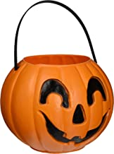 "Union United Solutions 55481 Trick or Treat Jack O Latern with Handle, 9"" Decorated Carry Jack, Candy Bucket for Halloween"