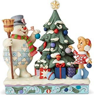Enesco Frosty The Snowman by Jim Shore Frosty and Karen Decorating Tree