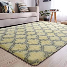 YJ.GWL Soft Indoor Large Area Rugs Shaggy Patterned Fluffy Carpets Suitable for Living Room and Bedroom Nursery Rugs Home ...