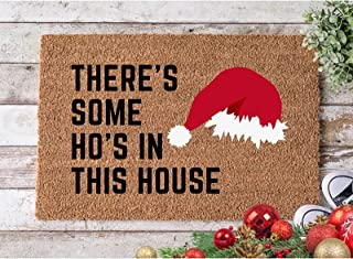 Lawzl Christmas Decorative Doormat Xmas Welcome Christmas Snowmen Mat Non Slip and Washable Winter Doormat Rubber Back Gno...