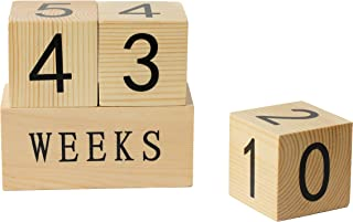 Rainbow Wooden Milestone Age Blocks | Baby Age Photo Blocks | Perfect Baby Shower Gift and Keepsake(Weekly, Monthly,Yearly and Now with Grade)