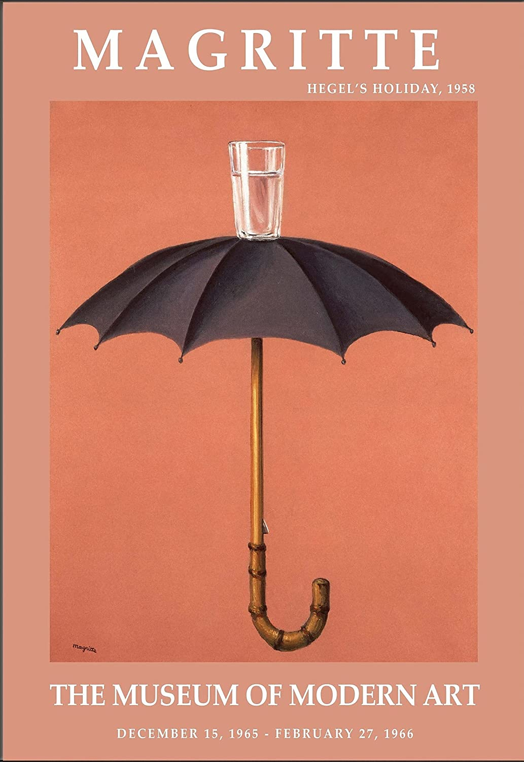 Hegel's Holiday Magritte Art Poster 20x30 Framed Max 75% OFF Sale Canvas