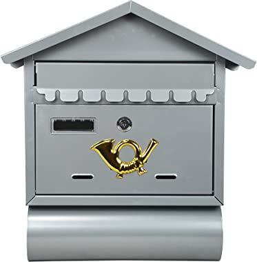 ALEKO USMB-02 Wall Mounted Mail Box with Retrieval Door 2 Keys and Newspaper Compartment
