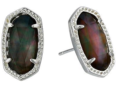 Kendra Scott Ellie Earring (Bright Silver/Black Mother-of-Pearl) Earring