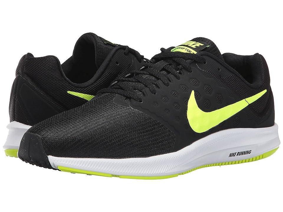 Nike Downshifter 7 (Black/Volt/White) Men
