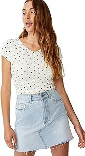 Cotton On Women's Cotton Blend Short Sleeve Top