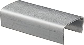 """Nifty Products SOS12 Galvanized Seal, 1/2"""" Width, Black, For Steel Strapping (Case of 1000)"""