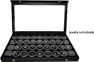 Novel Box® Snap-Close Acrylic Lid Black Jewelry Display Case 14.75X8.25X1.15