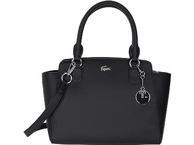 Lacoste Daily Classic Top-Handle Bag (Black) Satchel Handbags