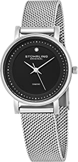 Stuhrling Original Women's 734LM.02 Analog Ascot Casatorra Elite Swiss Quartz Mesh Bracelet Watch with Diamond Accent