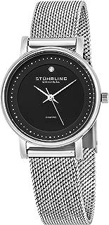Stuhrling Original Women's 734LM.02 Analog Ascot Casatorra Elite Swiss Quartz Mesh Bracelet Watch with Diamond Accent