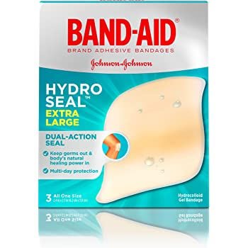 Band-Aid Brand Hydro Seal Extra Large Waterproof Adhesive Bandages for Wound Care and Blisters, 3 ct