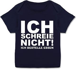 Shirtracer Sprüche Baby - Ich Schreie Nicht, ich bestelle Essen! - Kurzarm Baby-Shirt für Jungen und Mädchen
