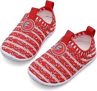 JIASUQI Kids Baby Toddlers Girls Boys Slip on Fashion Sneakers Casual First Walking Shoes