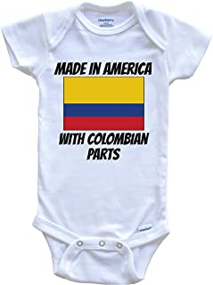 Made in America with Colombian Parts Colombia Flag Funny Baby Onesie