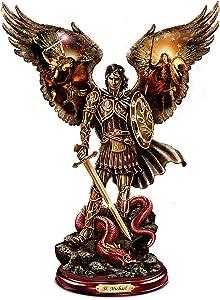 The Bradford Exchange Michael: Triumphant Warrior Sculpture with Howard David Johnson Artwork