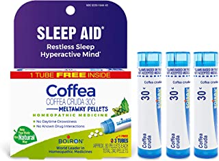 Boiron Coffea Cruda 30c Homeopathic Sleep Aid, 3 Tubes