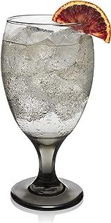 Libbey Classic Smoke Goblet Beverage Glasses, Set of 6