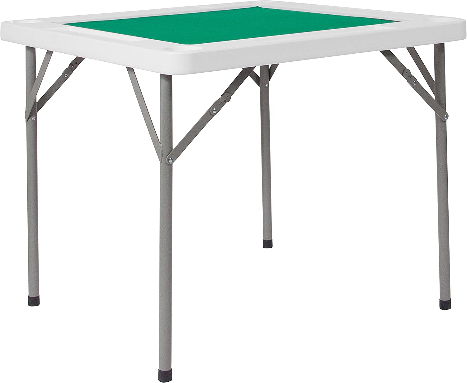 Flash Furniture 34.5-Feet ' Square Granite White Folding Game Table with Green Playing Surface