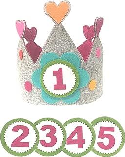 Clan Toys Corona para cumpleaños o Fiestas Infantiles con números del 1 al 5 (Corazón)
