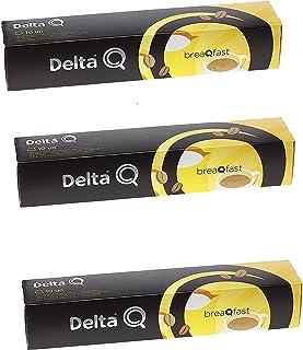 Pack Xl 30 Café molido intenso y adulzado BREAQFAST- ESPECIALMENTE PENSADO PARA AÑADIR UN TOQUE DE CREMOSA LECHE -(adulzado) Cápsulas Delta Q - 3X10 = 30 capsulas