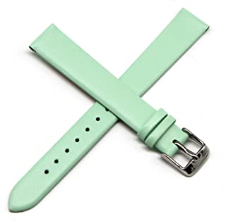Lucien Piccard 14MM Mint Green Genuine Leather Watch Strap Band 7.5 Inches Silver LP Buckle Fits Monte Baldo
