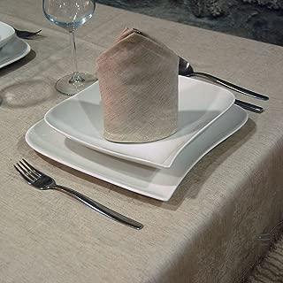 Luxury Linen Jacquard Tablecloth - Rectangle - Large Sizes (62 x 98 (160 x 250cm))