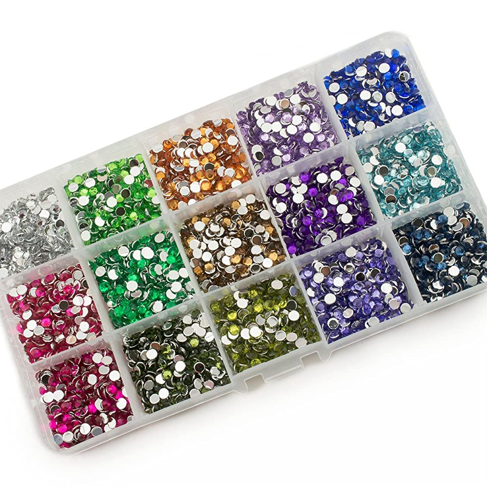 Summer-Ray 4mm Assorted Color Rhinestones In Storage Box Set #3