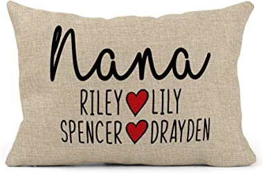 Grandma Pillow | Grandpa Pillow| Personalized Grandma Birthday Gifts | Gifts for Mom I Customized Pillow I Grandma Gifts from