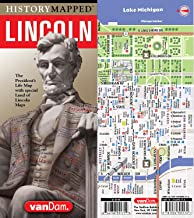 History Mapped Lincoln Map by VanDam: Illinois Edition with Chicago & Springfield Details and Graphic of Lincoln's Life