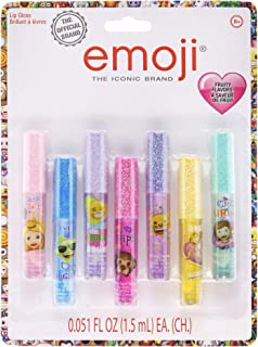 Townley Girl Super Sparkly 7 Pack Party Favor Lip Gloss, 7 CT (Emoji)