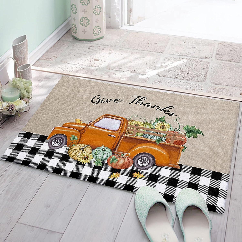 OneHoney Non Slip NEW Floor Mats Houston Mall Thanksgiving Autumn Shag Pum Carpet