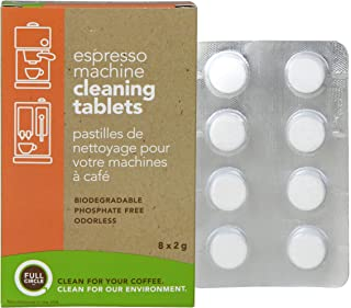 Full Circle Espresso Machine Cleaning Tablets - 8 Count - Safe On Keurig Delonghi Nespresso Ninja